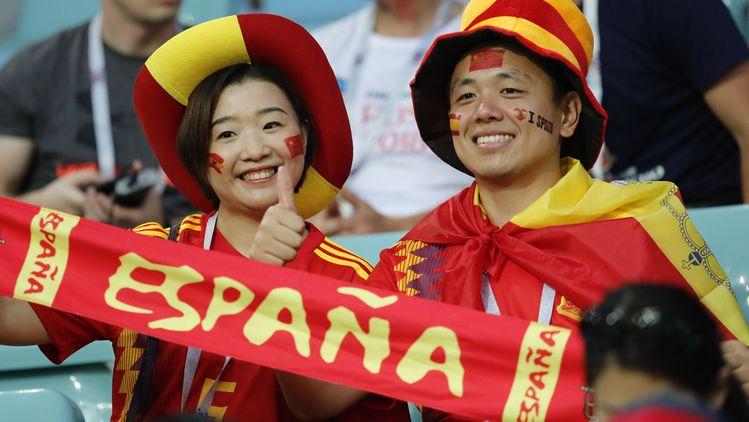 Фенове от Китай подкрепят националния отбор на Испания