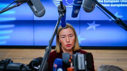 Върховният представител на Евросъюза за външната политика и сигурността Федерика Могерини