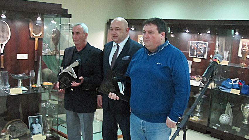 Борислав Цеков, Красен Кралев и Желю Станков (отляво надясно)