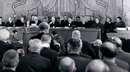 Sitzung des Volksgerichts, Dezember 1945