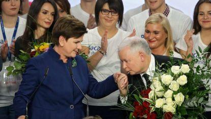 Беата Шидло и Ярослав Качински
