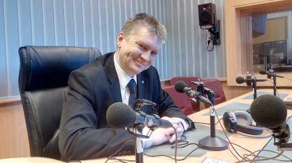 Любомир Аламанов в студиото на БНР