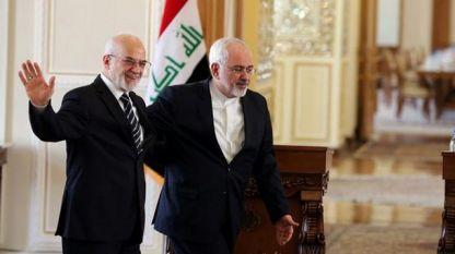 Външните министри на Ирак и Иран - Ибрахим ал Джафари (вляво) и Мохамед Джавад Зариф