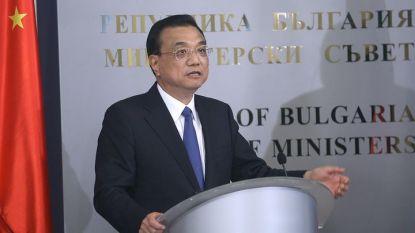 Китайският премиер Ли Къцян на пресконференцията с българския си колега Бойко Борисов (не е в кадъра) след срещата им в Министерския съвет.