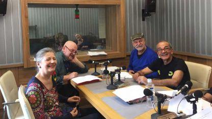 Актьорите (отляво надясно): Мая Бабурска, Валентин Ганев, Кирил Кавадарков и Веселин Цанев.