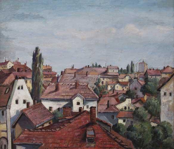 Городской пейзаж, худ. Георги Железаров