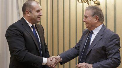 President Rumen Radev (L) and  Prof. Michael Bar-Zohar