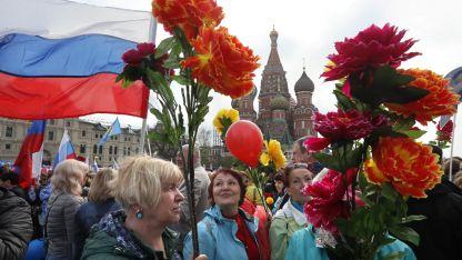 Участниците в първомайската демонстрация преминаха през Червения площа