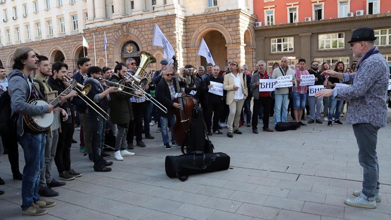 Protesta e muzikantëve nga RKB