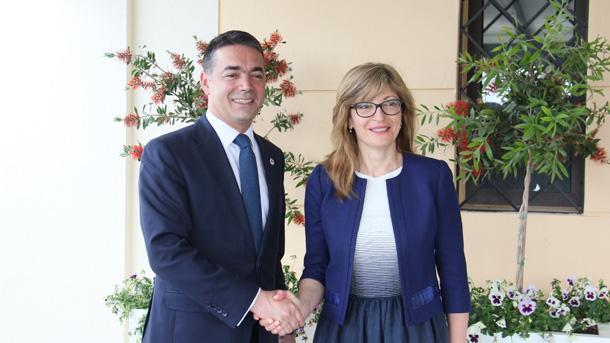 Външните министри на България и Македония Екатерина Захариева и Никола Димитров