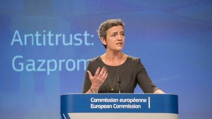 Комисарят по въпросите на конкуренцията Маргрете Вестагер представя споразумението с
