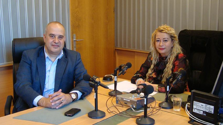 Камен Каменов и Анелия Торошанова в студиото на предаването.