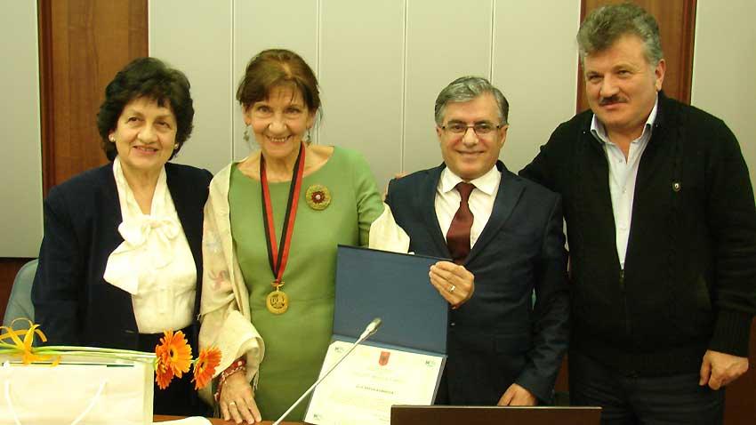Akad. Floresha Dado, Prof. Petja Asenova, Prof. dr. Shaban Sinani dhe Prof. dr. Dhimitri Bello