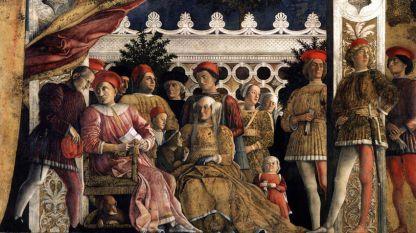 Фрагмент от фреска на Андрея Мантеня в Брачната стая в Палацо Дукале