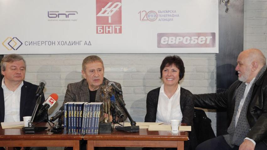 От ляво надясно доц. Пламен Дойнов, Милен Миланов, Теодора Димова и Мирослав Пашов