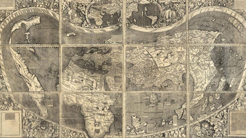Карта от 1507 г. на немския картограф Мартин Валдзеемюлер