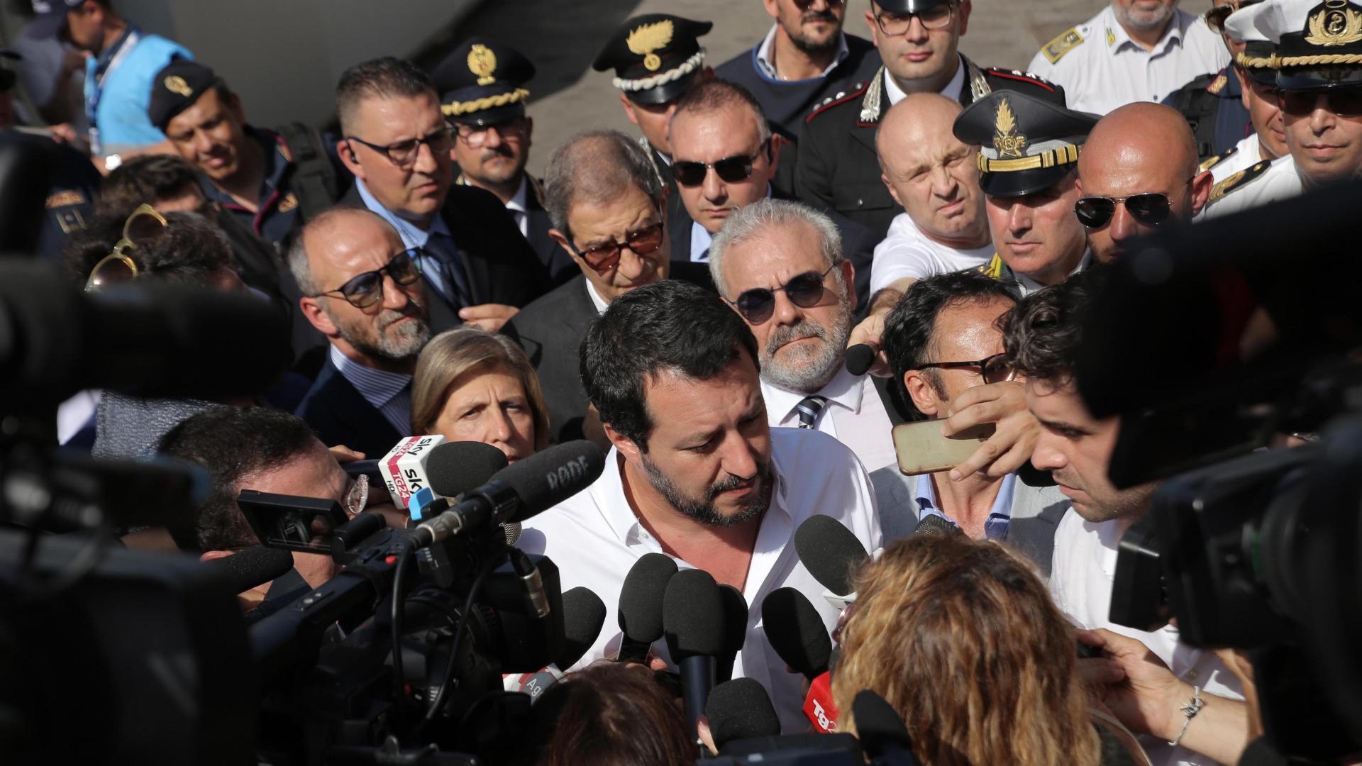 Италианският министър на вътрешните работи Матео Салвини