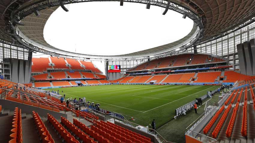 Реконструираният стадион в Екатеринбург, Русия