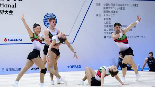 Националният отбор по спортна аеробика проведе официалната си подиум тренировка