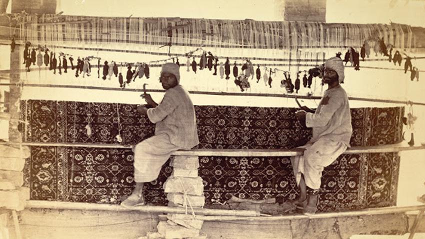 Тъкачи на килими в Карачи - 1873 г.