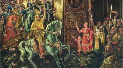Посрещането на цар Симеон в Преслав, автор Цанко Лавренов