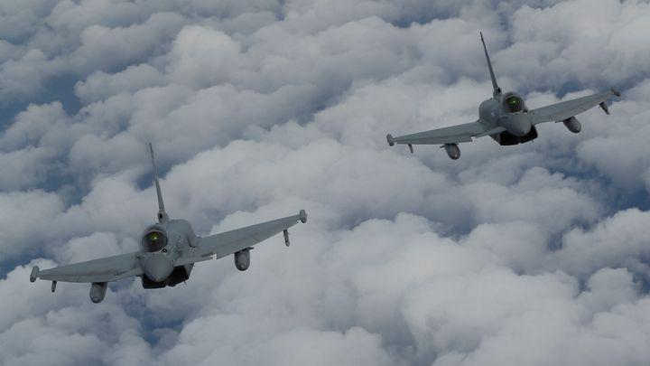 """Намиращи се в Румъния самолети """"Тайфун"""" на британските ВВС са"""