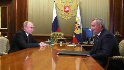 Владимир Путин на среща днес в Кремъл в Дмитрий Рогозин, който бе назначен за шеф на Роскосмос