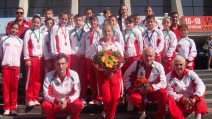 България с 5 медала в скоковете на батут от Санкт Петербург