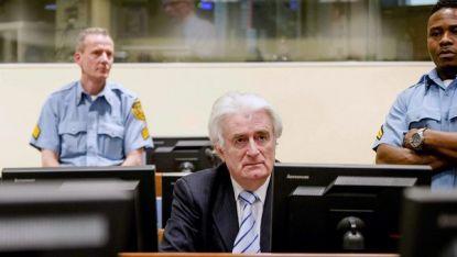 Радован Караджич по време на четенето на присъдата в Трибунала в Хага