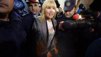 Елена Удря при задържането й по обвинения в корупция в Букурещ през 2015 г.