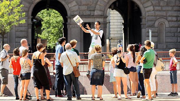 Туристы в центре Софии