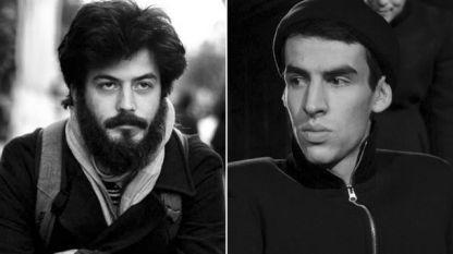 Поетът Иван Димитров (вляво) и актьорът Станислав Кертиков