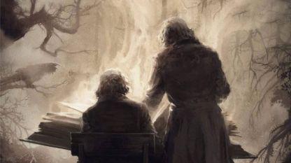 """Част от корицата на книгата """"Детски и домашни приказки"""" на Братя Грим"""