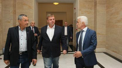 Валери Симеонов, Красимир Каракачанов и Волен Сидеров