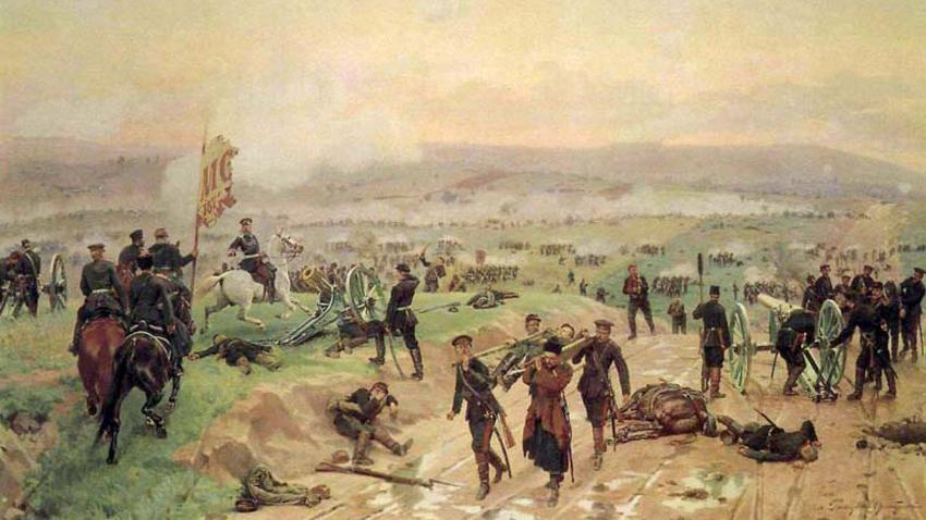 """""""Битка код Плевена 27. августа 1877. године"""", сликар Николај Дмитријев-Оренбургски"""