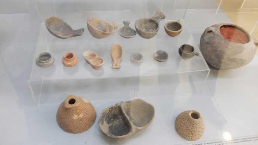 Керамична лъжица от V хилядолетие пр.н.е., намерена в землището на град Стара Загора. Снимка: Албена Безовска