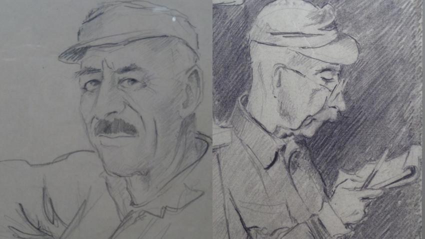 Politician Stoycho Moshanov and General Ivan Vulkov
