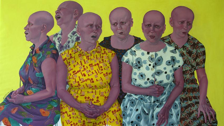 "Алла Георгиева.  ""Мамини рокли / Alla Vitta vs. Jan van Eyck"", 2013"