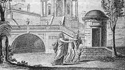"""Част от заглавната страница на първото издание на """"Mедея"""" от Керубини, 1797 г."""