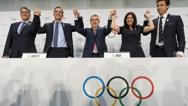 Лос Анджелис и Париж ще организират олимпийски игри, решиха в МОК