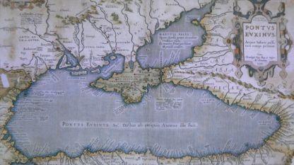 """Една от картите в изложбата  в Националната библиотека """"Св. св. Кирил и Методий"""""""