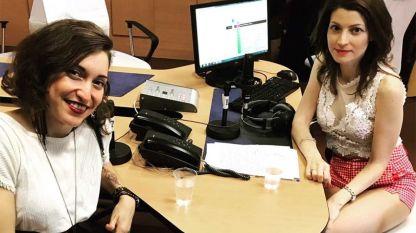 Мишел Мандела с Лили Друмева в студиото на Радио София