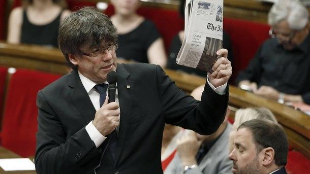 Премиерът на автономната испанска област Каталуния - Карлес Пучдемон