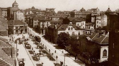 """Площад """"Славейков"""" (снимка от 20-те години на XX век)"""