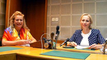 """Анелия Торошанова (вляво) и Офелия Кънева в студиото на програма """"Христо Ботев"""""""