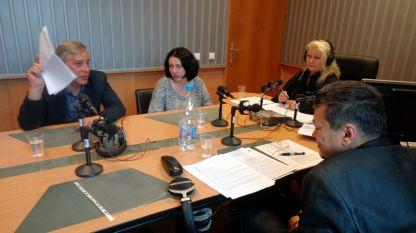 Александър Масларски, Боряна Даутова, Анелия Торошанова и адвокат Пламен Димитров обсъждат казуса със сексскандала в Комисията за защита на потребителите