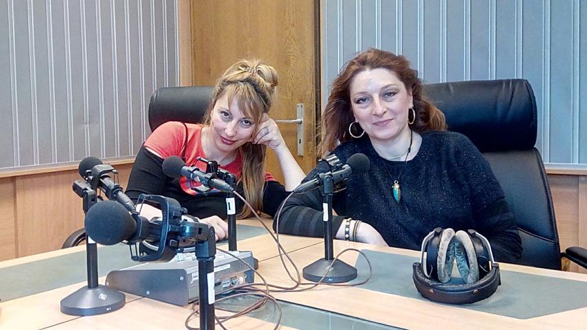 Мария Мира Христова и Мария Мартинова (вдясно) в студиото на предаването.