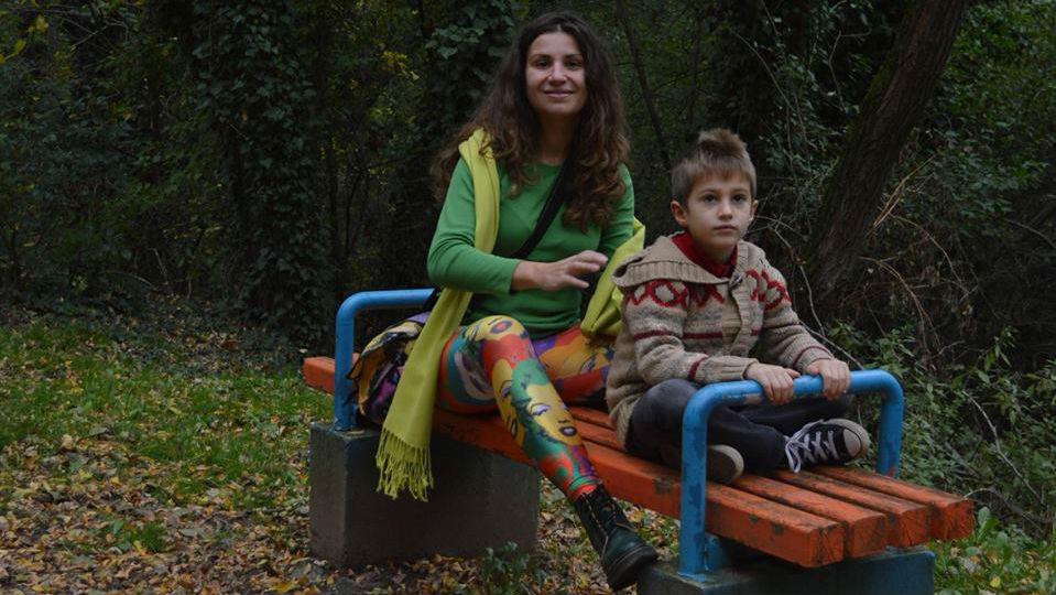 Нина Хаджийска и синът й Георги