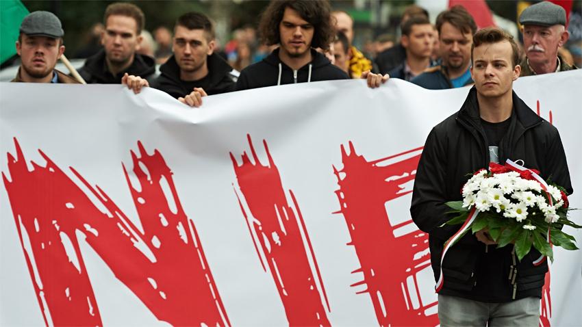 Антимигрантска демонстрация в Гданск
