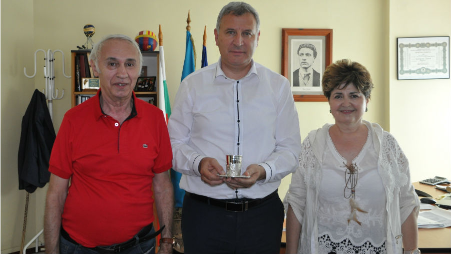 Красимир Герчев с Мария и Николай Фридман